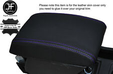 PURPLE STITCHING ARMREST LID LEATHER COVER FITS SEAT LEON 2013-2016