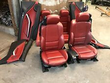 BMW E46 M3 CONVERTIBLE RED FRONT REAR BACK LEATHER SEAT SEATS DOOR PANEL OEM 325