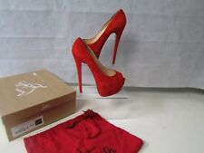 CHRISTIAN LOUBOUTIN 'HIGHNESS' RED SUEDE HIGH HEELS EU38.5 UK5.5