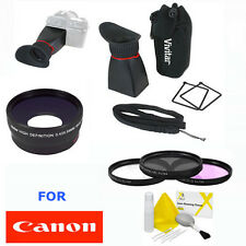 WIDE ANGLE LENS + HD VIEWFINDER +HD FILTER KIT FOR CANON EOS T3I T3 T5 SL1 XT