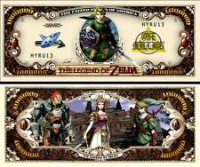 Legend of Zelda Million Dollar Collectible Funny Money Novelty Note