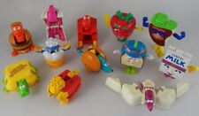 SET 8 McDONALD'S McDINO CHANGEABLES + FOOD FUNDAMENTAL TRANSFORMER TOYS used vtg