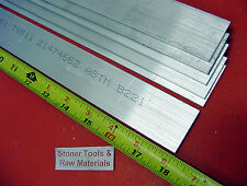 "6 Pieces 1/8"" X 1-1/2"" ALUMINUM 6061 FLAT BAR 18"" long .125"" Plate Mill Stock"