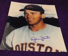 AUTOGRAPHED COLOR 8 X 10  PHOTO MLB JERRY GROTE NY METS & HOUSTON COLTS .45'S