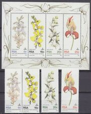 SOUTH AFRICA - 1981 - 10TH WORLD ORCHID CONFERENCE - MNH SET & SOUVENIR SHEET