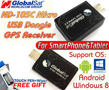 GlobalSat ND-105C Micro USB GPS RECEIVER 4 Android&Win8 SmartPhone/Tablet+Gift