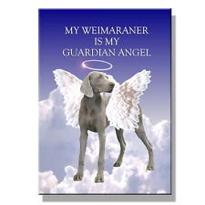 Weimaraner Guardian Angel Fridge Magnet New Dog