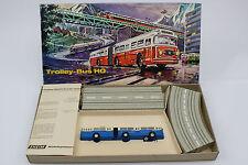 Eheim Faller HO Electric Trolley Bus 6105 OVP blau OK Brawa AMS Glieder bus Dose