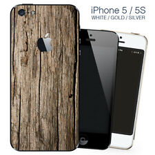 Brown wood iPhone 5 wrap skin - iphone skin - covers for iphone 5 self adhesive