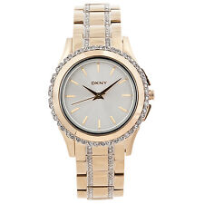 NEW DKNY NY8699 BROOKLYN GOLD-TONE STAINLESS STEEL LADIES WATCH NIB $175~~NICE!