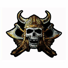 Gran motorista Viking Skull vikingo aufbügler Patch back Patch espalda Patch