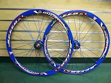 Fixed Gear Track Road Bike 700c 40mm Wheels Blue Rim Blue spokes Sealed Bearing