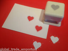 Martha Stewart STUDDED HEART Paper Punch All Over The Page PAOP - BRAND NEW!