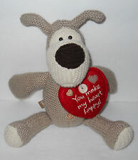 "American Greetings Boofle Dog You Make My Heart Happy Stuffed Plush 8"""