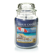 ☆☆BEACH VACATION☆☆LARGE YANKEE CANDLE JAR ☆☆RELAXING BEACH SCENTED CANDLE