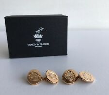 Kingsman + Deakin & Francis plata esterlina Rose Gold-Plated Crest Cufflinks