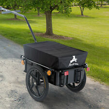 Aosom Bike Cargo Trailer Steel Carrier Storage Cart Wheel Runner For Shopping