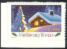 France 2002 New Year/Seasonal Greetings/Tree/House/Animation 1v s/a (n37367j)