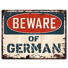 PBFN 0756 Beware of GERMAN Plate Rustic Chic Sign Home Decor Funny Gift Ideas