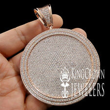 BLING KING MENS 14K ROSE GOLD FINISH MEDALLION STYLE CUSTOM BIG CHARM PENDANT