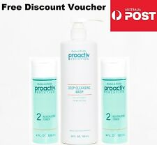 Proactiv Sealed 3 PIECE 60 DAY SET 720ml Deep Cleansing Wash Cleanser Toner 240