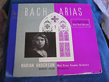 Marian Anderson-Robert Shaw/Bach Arias/3 78s/RCA Victor DM-1087/NEW OLD STOCK*