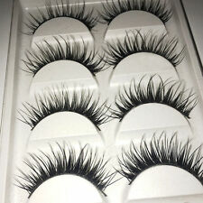 5 Pairs Makeup Tool Beauty Handmade Long Thick Cross False Eyelashes Eye Lashes