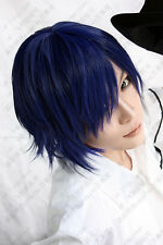 VOCALOID Kaito diva Short Blue Black Wigs Cosplay Hair Wig