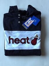 NWT Adidas Miami Heat Womens Scrunch Neck Pullover Hoodie S Small Gray/White $65