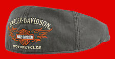 Harley Davidson  Men's Flame Graphic Grey Ivy Cap (M) HAT