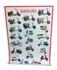Poster Lambretta Plastificato con scritta rossa 97.8 cm X 67.9 cm