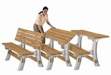 Wooden Table Bench - Flip Top Bench - any size - just add your CLS 2x4 Timber