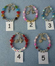 **GIFT - Personalised Children/Babies Christmas Birthday Named Bracelet**