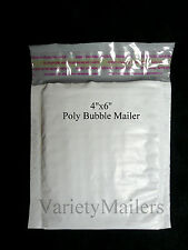 "20 POLY BUBBLE VERY SMALL SELF-SEALING MAILER ENVELOPES #0000 4""x6""  LITTLE TINY"