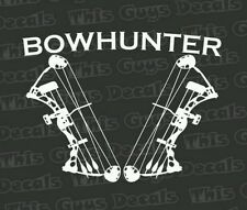 bow hunting compound bow decal hunting window vinyl sticker