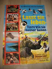 Lasst sie leben tiere wie sie keiner kennt Kinoplakat A1   Laissez-les vivre!