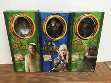 "(3) Lord of the Rings LOTR ToyBiz 12"" action figures LEGOLAS Galadriel GIMLI"