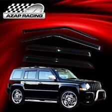 07-16 Smoke Slim Sun Window Visor Rain Guard Vent Shade 4Pcs For Jeep Patriot