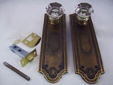 Antique  Glass Door Knob Set Modern Door Conversion Retrofit  4 sets avail. #694