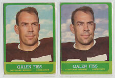 Galen Fiss 1963 Topps #21 Blue and Purple Sky variations