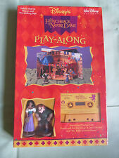 NEW DISNEY THE HUNCHBACK OF NOTRE DAME PLAY ALONG CASSETTE~FIGURE~POP-UP PLAYSET