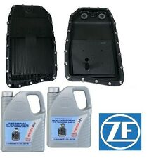 oem ZF Transmission Oil Pan Filter Kit & 10-Liter's Trans Fluid BMW Jaguar