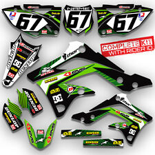 2017 KXF 250 GRAPHICS KIT GREEN KAWASAKI KX250F MOTOCROSS DECALS 21 mil thick