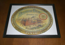 MENOMMEE RIVER  BREWING COMPANY FRAMED COLOR AD PRINT - MICHIGAN - DUBLIN STOUT