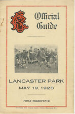 Technical, Linwood, Merivale, Albion 19 May 1928 Canterbury NZ Rugby Programme