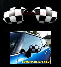 Wing MIRROR Caps Cover for MK1 MINI Cooper/S/ONE Chequered Flag LHD R50 R52 R53