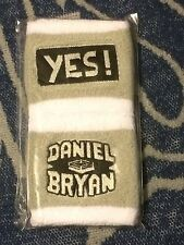 DANIEL BRYAN WWE Authentic Set of 2 Wristbands Respect the Beard YES! Brand NEW
