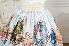 Cosplay Sweet Love Lolita Fairy Tale Guardian Angel Print Cute Skirt with lace