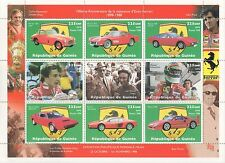 100th ANNIVERSARY OF THE FERRARI CAR SCHUMACHER GUINEE 1998 MNH STAMP SHEETLET