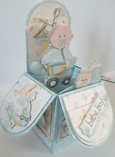 baby boy  cute pop up box handmade card
